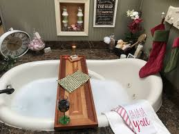 wine glass holder for your bathtub ideas