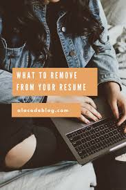 Offline What To Remove From Your Resume A La Code