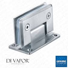 90 degree shower hinge wall to glass door bracket light satin nickel finish double sided