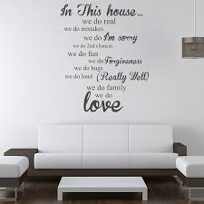 Wall Sticker Quotes Amazing In This House Wall Sticker Home Wall Art
