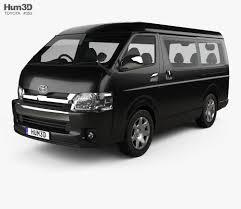 Toyota Hiace Passenger Van L1H2 GL 2013 3D model - Hum3D