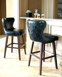 Low Back Bar Stools Leather  Incredible With I90
