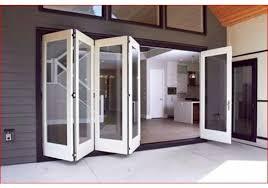 sliding exterior bifold door systems
