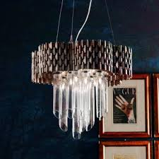 luxury braided antique silver italian chandelier with glass cylinders