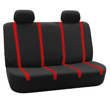 auto seat covers for car sedan truck van universal seat covers red black 3