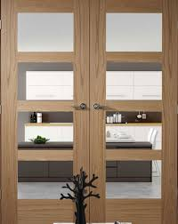 shaker contemporary 4 oak interior door pair