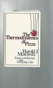 the thermodynamics of pizza essays on science and  stock image
