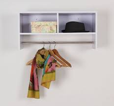 Home To Office Solutions Coat Rack HOMCOM Wall Mounted Coat Hanger Hooks Rack Stand Hallway Coat Rack 24