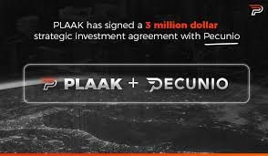 Plaak And Pecunio Sign 3 Million Dollar Strategic Investment Agreement