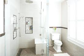 decorative bathroom tile borders shower niche traditional with glass wall border