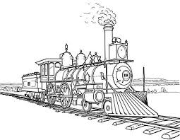 Small Picture Railroad Amazing Steam Train on Railroad Coloring Page