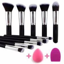 inmazing premium 12 pcs makeup brush kit synthetic kabuki with blender sponge and brush egg