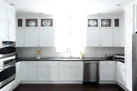 quartz countertops with white cabinets kitchen black gray