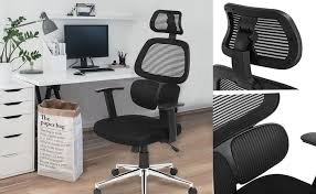 information for high back ergonomic mesh office chair with adjule lumbar support backrest headrest armrest and seat height