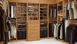 Traditional Bedroom Design Ideas with Solid Wood Walk In Closet