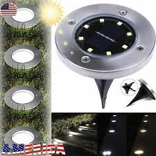 Disk Lights Solar Details About 3x 8led Solar Disk Lights Ground Buried Garden Lawn Deck Path Outdoor Waterproof