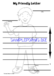 Friendly Letter Templates Samples Forms