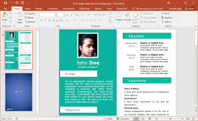 Powerpoint Resume Delectable Free Single Slide Resume Template For PowerPoint