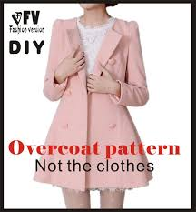 Coat Sewing Patterns Best Clothing DIY Overcoat Sewing Pattern Coat Sewing Template Cutting