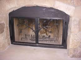 custom wrought iron fireplace screens. wrought iron custom build-in fireplace doors larger image screens t