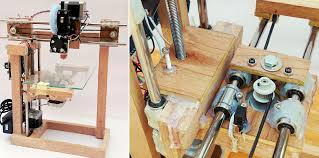 diy repstrap 3d printer uses wood and glue as its primary components