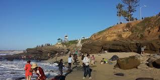 sea glass hunters at la jolla san go california