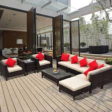 high end garden furniture. 9pc outdoor rattan wicker sofa chair couch seat sectional patio furniture set high end garden