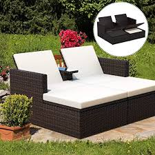 Tangkula 3 Pieces Wicker Chaise, with Storage ... - Amazon.com