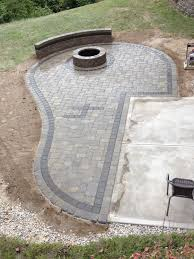 paver patio with fire pit. Exellent Fire Permalink  Paver Patio Fire Pit U0026 Sitting Walls Cincinnati Oh Gallery To Patio With Fire Pit W