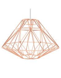 george home copper effect origami pendant light shade lighting asda direct