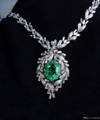 whole antique natural russian emerald diamond necklace 11 2ct certified long necklaces fine jewelry from dadwrhb 55 28 dhgate com