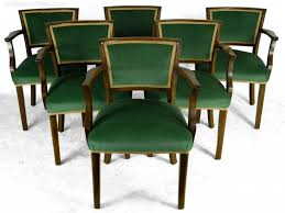 Furniture: Art Deco Dining Chairs Awesome Set Of French Art Deco Style  Dining Chairs Antiques