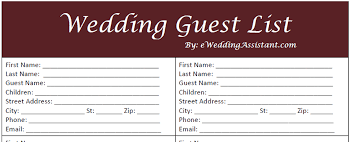 free guest list template Wedding Invitations Guest List Templates wedding guest list and checklist 362 png 104kb, www iccwoldcop2015 com new calendar template site wedding invitation list templates