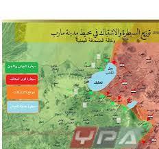 خريطة توضح اقتراب المعارك من أهم معسكرات التحالف شمال مدينة مأرب – وكالة  الصحافة اليمنية