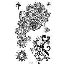 Tetování Tělové Dočasné černé Ornamenty Hm859