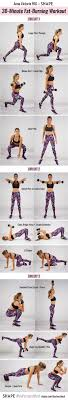 chart of fat burning workout from anna victoria