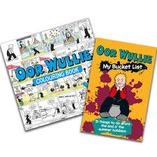 Dc Thomson Shop Oor Wullie Bucket List Colouring Book Pack Dc