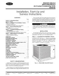 carrier 38ak012 user manual 16 pages also for 38ak007 38aks008 38aks009 38aks012