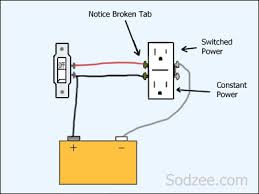 simple home electrical wiring diagrams sodzee com split circuit outlet switched outlet