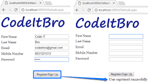 in asp net using c and sql server