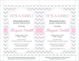 Girl Baby Shower Invitation Template Butterfly Baby Shower