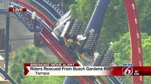 sheikra busch gardens report riders evacuated off roller coaster at gardens sheikra busch gardens ta pov