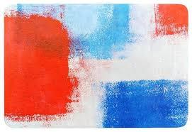the colors red blue memory foam bath mat contemporary mats