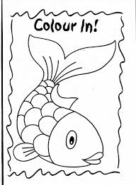 Small Picture Little Fish Coloring Page For Kids Animal Pages Rainbow Printables