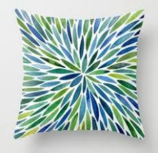 blue and green throw pillows. Throw Pillow Featuring Watercolor Burst \u2013 Blue \u0026 Green By Cat Coquillette And Pillows