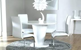 full size of kingston round white dining table with 4 bewley oatmeal chairs circle and pedestal
