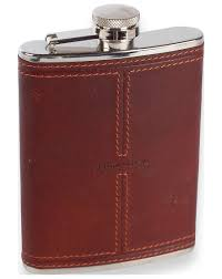 smith canova oil tanned leather 6oz hipflask