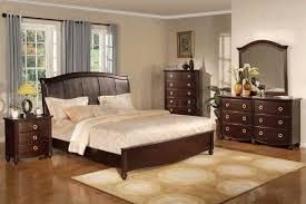 Bedroom Design Dark Brown Transitional Bedroom Set W Faux Leather - Transitional bedroom