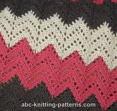Crochet Ripple Pattern Magnificent ABC Knitting Patterns Lace Ripple Afghan