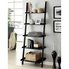 Sion Black Ladder Shelf